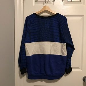 adidas Sweaters - VINTAGE ADIDAS Blue & White Crewneck Sweatshirt
